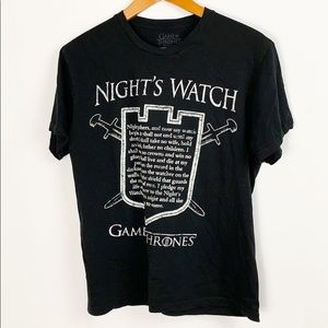Game Of Thrones Night Watch Tee Size Medium